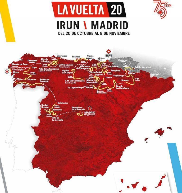 Recorrido oficial de La Vuelta a España.