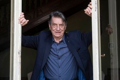 Claudio Magris, en la residencia de la Embajada española en Roma, el pasado 14 de abril.