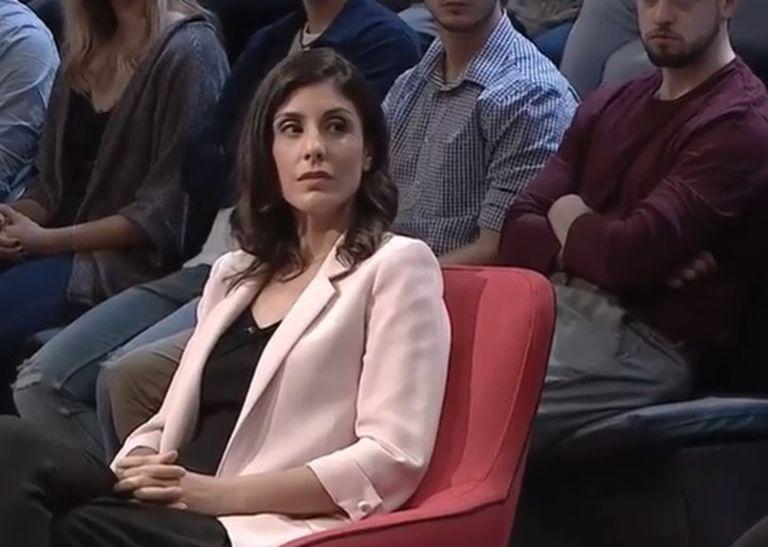 La periodista Raquel Ejerique en el programa 'La qüestió' de A Punt