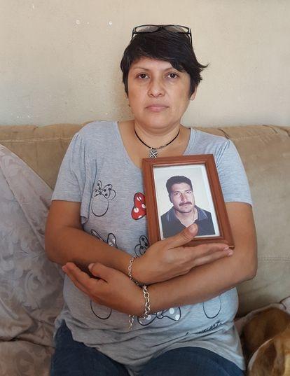Elvira Martínez Espinoza, viuda de Bladimir Muñoz Delgado, minero muerto en la mina.