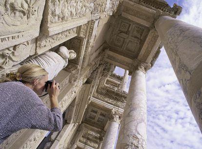 La biblioteca romana de Éfeso, en Turquía, la más famosa de la antigüedad después de la de Alejandría.
