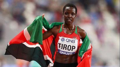 La atleta Agnes Jebet Tirop, en una fotografía de archivo.