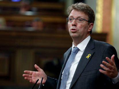 El diputado del PDeCAT Ferrán Bel, durante una intervención el pleno del Congreso de los Diputados.