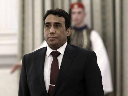 Mohamed Yunis Menfi, embajador libio, en Atenas en diciembre de 2018.