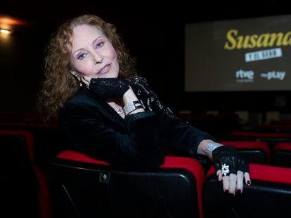 Susana Estrada en la presentación del documental 'Susana y el Sexo' en Madrid el pasado 4 de octubre.