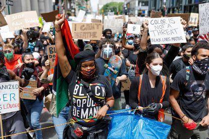 Protestas en Nueva York del movimiento Black Lives Matter, que se ha extendido por todo Estados Unidos frente a la brutalidad policial contra la población afroamericana.