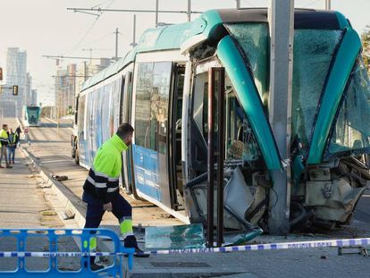 El tranvía accidentado.
