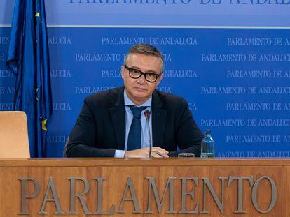 El portavoz de Vox en el Parlamento de Andalucía, Manuel Gavira.