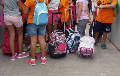 Alumnos en un colegio valenciano.