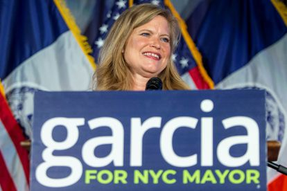 Kathryn Garcia, during the election night celebration in Brooklyn (New York), on June 22.