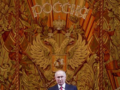 Vladimir Putin en la gala de año nuevo en el teatro Bolshoi de Moscú, el 26 de diciembre.