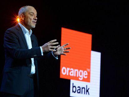 Stéphane Richard, en la presentación de Orange Bank.