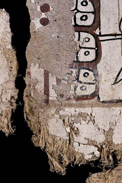 Detalle de las fibras del Códice.