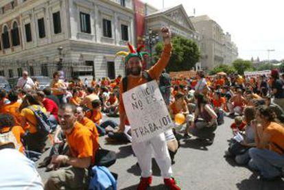 La asociación Precarios ha convocado manifestaciones de protesta.