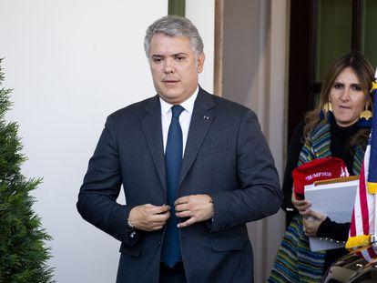 El presidente de Colombia, Iván Duque, en una visita a Washington a comienzos de marzo.