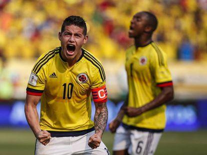 James, durante un partido clasificatorio contra Ecuador para el Mundial 2018.