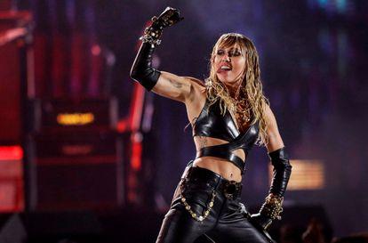 Miley Cirus, durante un festival en Las Vegas en septiembre del año pasado.