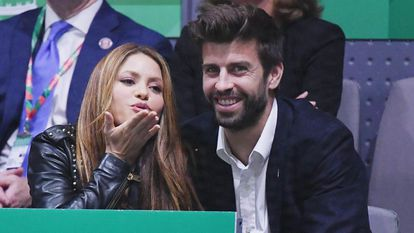 Shakira and Gerard Piqué, in a tennis match in Madrid in November 2019.