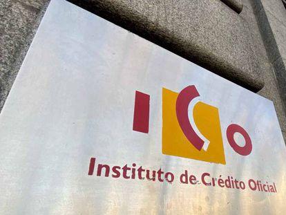 Logotipo del Instituto de Crédito Oficial (ICO), en una foto de archivo.