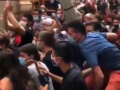 Captura de vídeo de twitter de la Festa Major de Vilafranca.