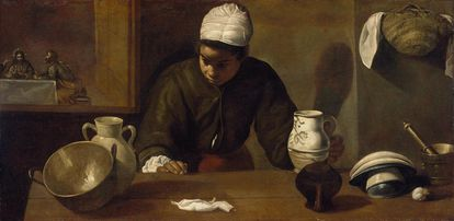 'La cena de Emaús (la mulata)', obra de Diego de Velázquez (c. 1618-1622).