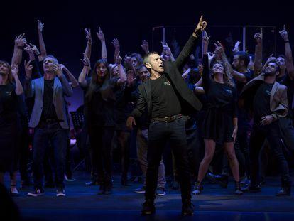 Antonio Banderas durante la presentación del musical Company en el Teatro del Soho.