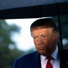 "(FILES) In this file photo US President Donald Trump holds an umbrella as he speaks to the media under the rain prior to departing from the South Lawn of the White House in Washington, DC, September 17, 2020. - Hollywood's actors union launched disciplinary action against outgoing US President Donald Trump on January 18, 2021, which could lead to the former ""Apprentice"" star's expulsion. SAG-AFTRA ""voted overwhelmingly to find probable cause of a violation"" of its constitution by long-time member Trump, whose screen credits include ""Home Alone 2.""The guild's disciplinary committee will now examine Trump's role in the January 6 mob attack on the US Capitol. (Photo by SAUL LOEB / AFP)"