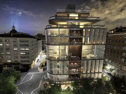 Imagen de cómo será el edificio Lagasca 99, en Madrid, que vende a precios de entre 10.000 y 16.000 euros.