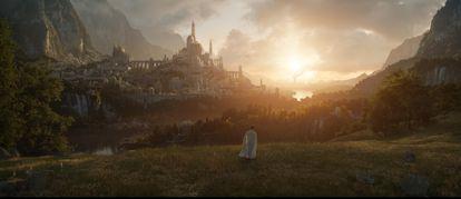 Primera imagen de la serie que Amazon Prime Video está preparando sobre el universo de 'El señor de los anillos', que estrenará el 2 de septiembre de 2022 en todo el mundo.