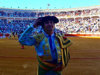 Morante de la Puebla finaliza el paseíllo en la encerrona del pasado sábado en El Puerto.