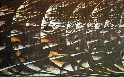 'Velocità astratta' (1913), de Giacomo Balla.