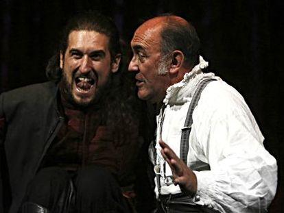 Arturo Querejeta (derecha), junto a Héctor Carballo en 'Otelo'.