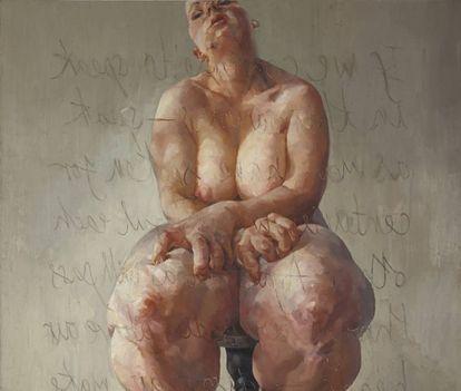 'Propped' (1992), de Jenny Saville.