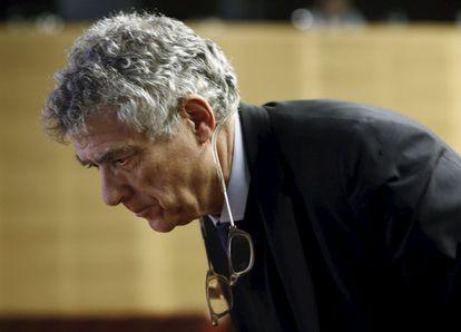 Ángel María Villar, en la sede de la UEFA en Nyon en enero pasado