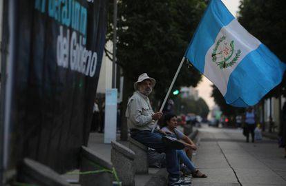 Protestas en Guatemala la semana pasada contra Jimmy Morales