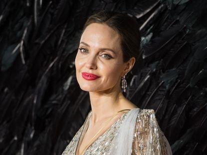 Angelina Jolie, durante el estreno de 'Maléfica' en Londres, en 2019.