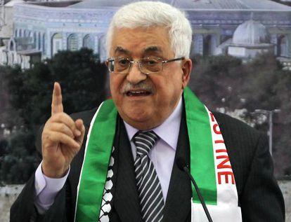 El presidente palestino, Mahmoud Abbas.