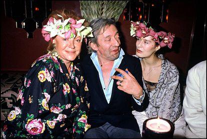 Fiesta caribeña en 1988 en Regine's con Regine, Serge Gainsbourg y Bambou.