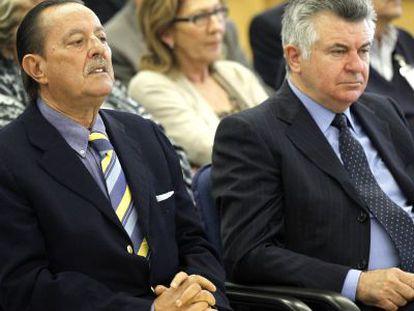 Muñoz y Roca, en el juicio por el 'caso Saqueo II'.