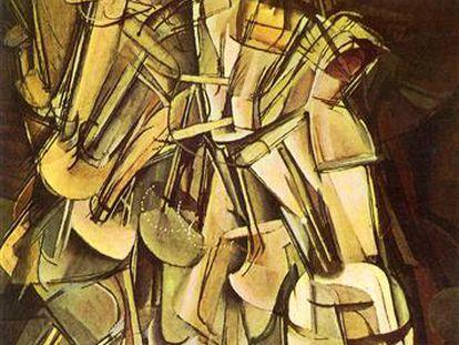 'Desnudo bajando una escalera', de Marcel Duchamp.