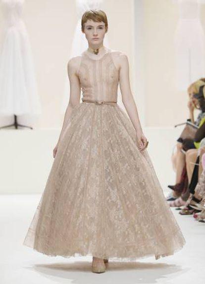 Un diseño de Christian Dior Haute Couture Otoño/Invierno 2018-2019.