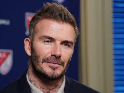 David Beckham, el pasado mes de febrero.