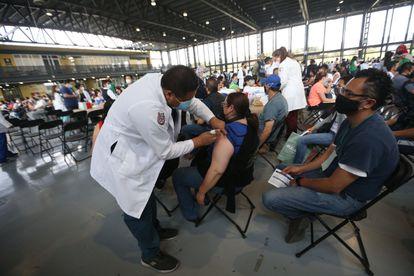 Un centro de vacunación en Ciudad de México.