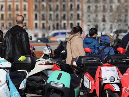 Medios de transporte colaborativo en Madrid.