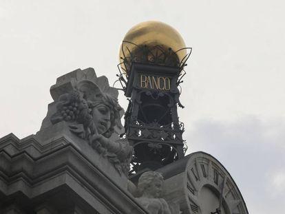 Detalle de la sede del Banco de España en Madrid