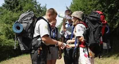 Un grupo de 'scouts'.