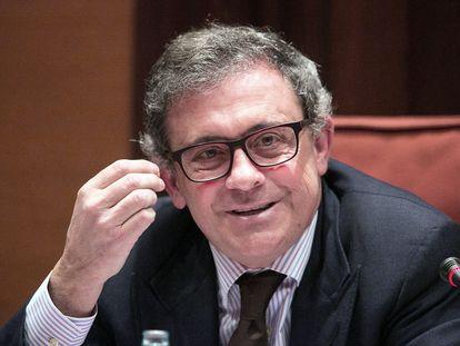 Jordi Pujol Ferrusola en una comparecencia ante una comisión del Parlament de Cataluña.