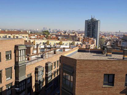 Panorámica del centro de Madrid desde la azotea del Innovation Lab del IED.