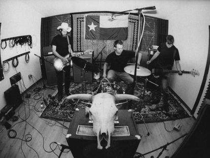 Desde la izquierda, Josh T. Pearson, Andy Brown y Josh Browning, en 2001.