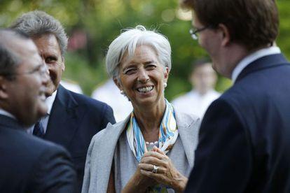 Christine Lagarde, en un acto en Londres.